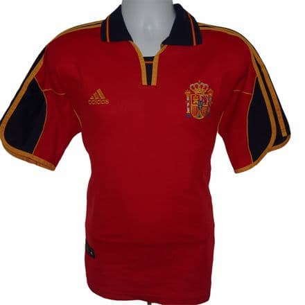 1999-2002 Spain Home Football Shirt, Adidas, Large (Excellent Condition)